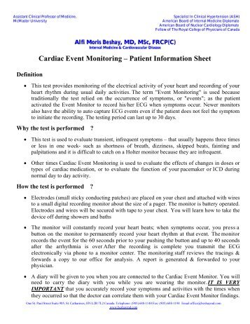 patient information sheet template