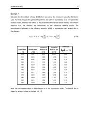 Example 1: Calculate the theoretical velocity distribution u(z) using ...