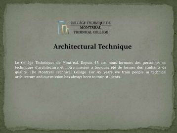 Architectural Technique