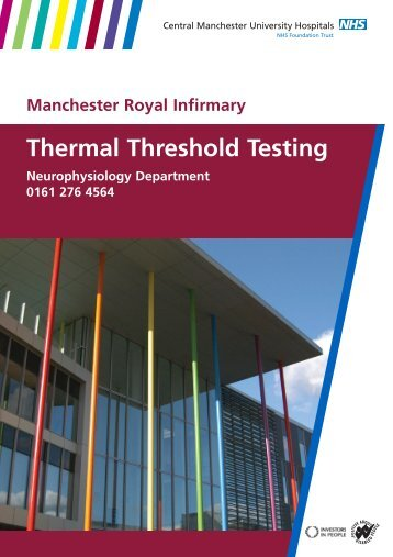 Thermal Threshold Testing - Central Manchester University ...