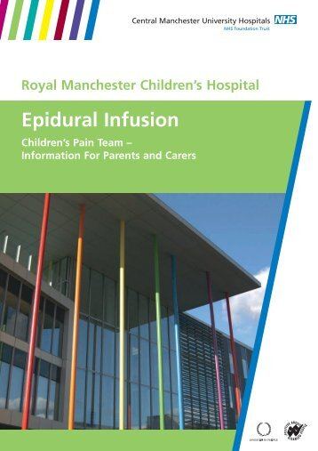 Epidural Infusion - Central Manchester University Hospitals - NHS ...