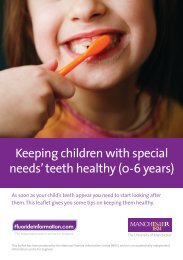 Keeping children with special needs' teeth healthy (0-6 years)