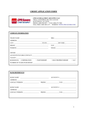 Aed Grant Request Form  Cpr Savers  First Aid Supply