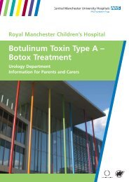 Botulinum Toxin Type A - Central Manchester University Hospitals ...