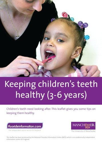Keeping children's teeth healthy (3-6 years)