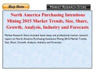 North America Purchasing Intentions Mining 2015 Market Trends, Size, Share, Growth, Analysis, Industry and Forecasts.pdf