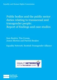 Public bodies and the public sector duties relating to transsexual ...