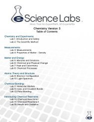 Chemistry Version 3 TOC - eScience Labs