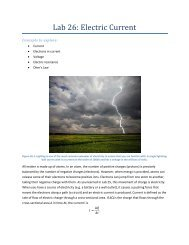 Lab 26: Electric Current - eScience Labs