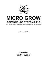 growstat manuals - International Greenhouse Company