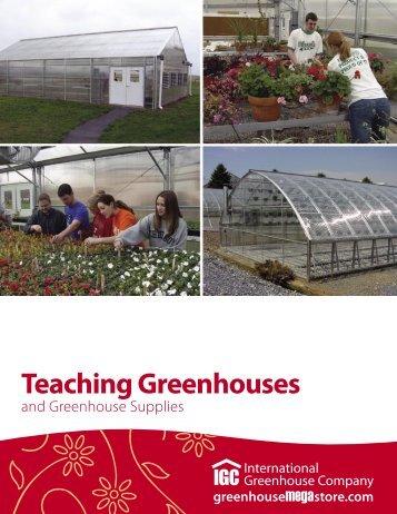 Teaching Greenhouses - International Greenhouse Company