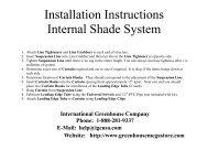 Internal Shade System - International Greenhouse Company