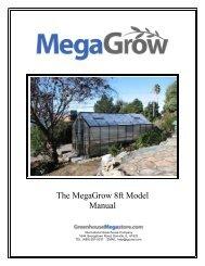 MegaGrow Greenhouse Manual - International Greenhouse Company