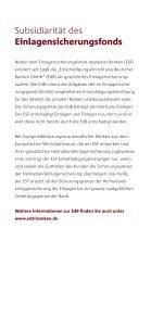 Einlagensicherung der privaten Banken - Kurzinformationen - Page 6