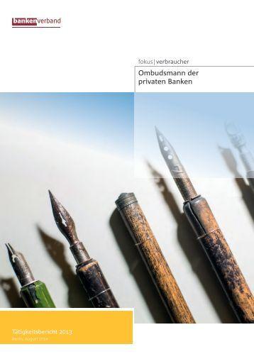 Ombudsmann-Tätigkeitsbericht 2013