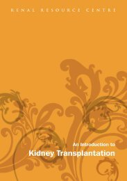 An Introduction to Kidney Transplantation - Renal Resource Centre