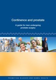Continence and prostate.pdf - Prostate Cancer Foundation of Australia