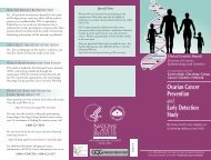 Ovarian Cancer Prevention and Early Detection Study - National ...