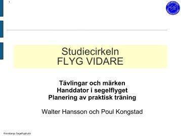Studiecirkeln: Flyg Vidare - Segelflyg