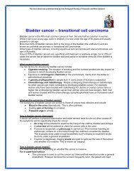 Bladder cancer – transitional cell carcinoma - Urological Society of ...