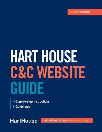 C&C Micro-site User Guide - Hart House