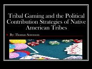 Tom Sorenson on Indian Gaming Politics