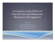 An Analysis on the Effects of Voter ID Laws and Minnesota's ...