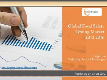 Explored New Research Report On Global Food Safety Testing Market Trends, Key Vendors, Market Space, Forecast 2012-2016