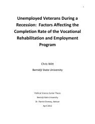 Unemployed Veterans During a Recession - Dr. Donnay's Weblog