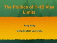 The Politics of H-1B Visa Limits