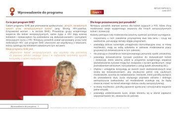 Wprowadzenie do programu - SHE Programme
