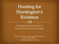 Hunting for Huntington's Evidence - Dr. Donnay's Weblog