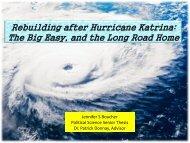 Rebuilding New Orleans - Dr. Donnay's Weblog