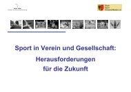 Sport in Verein und Gesellschaft: Herausforderungen für die Zukunft