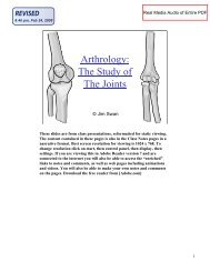 Arthrology Presentation PDF - Classvideos.net