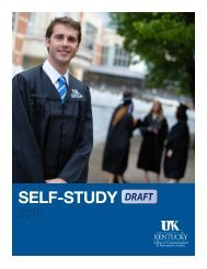 self-study - College of Communication and Information - University ...