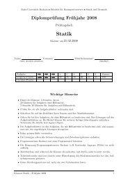 2008 Statik Aufgaben - Lehrstuhl für Statik und Dynamik - Ruhr ...