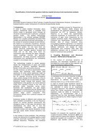 Quantification of wind turbine gearbox loads by coupled structural ...