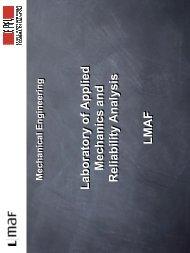 Laboratory of Applied Mechanics and Reliability Analysis LMAF ...