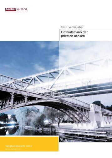 Ombudsmann-Tätigkeitsbericht 2012