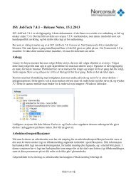 ISY JobTech 7.4.1 – Release Notes, 15.1.2013 - Norconsult