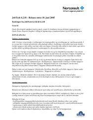 JobTech 6.2.01 - Release notes 10. juni 2005 - Norconsult