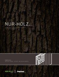 DeepGreen & NUR-HOLZ Broschüre.