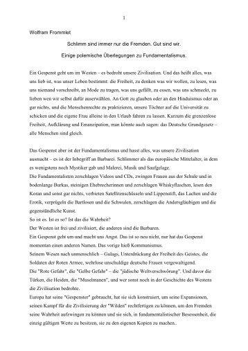 Essay für eine Publikation der Aleviten ... - Wolfram Frommlet