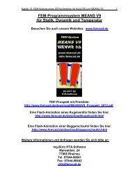 FEM-Analyse eines 3D-Fachwerkes mit AutoCAD und MEANS V9