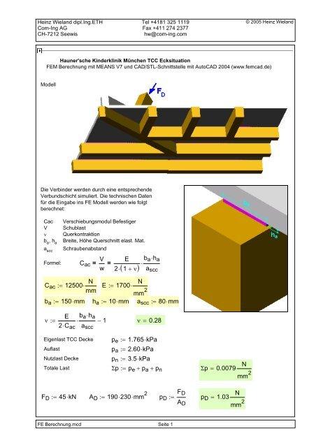 Mathcad - FE Berechnung.mcd