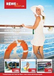 REWE Reisen Prospekt Juli / August 2015