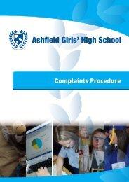 Complaints Procedure PDF - Ashfield Girls' High School