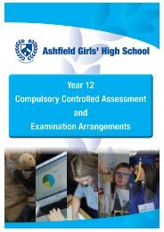 Year 12 Compulsory Controlled Assessment and Examination ...