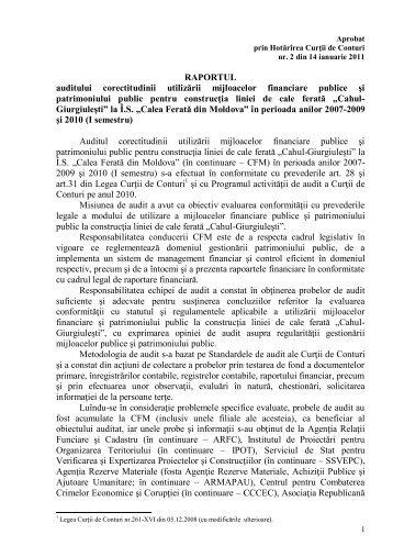 Anexa - Curtea de Conturi a Republicii Moldova